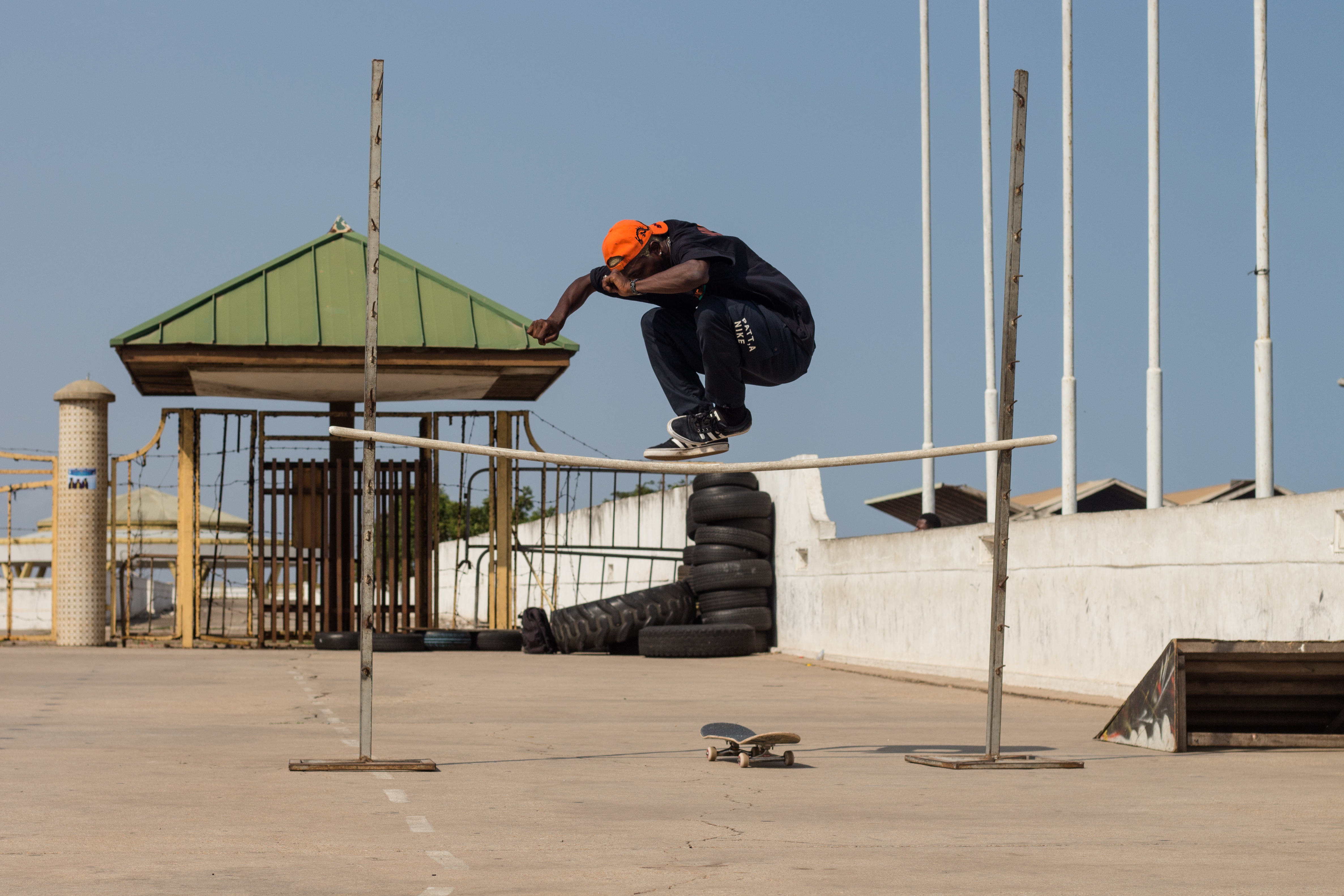 Fahdo Bello (Nigerian Skater from Waffles n Cream)-Hippy Jump in Accra, Ghana