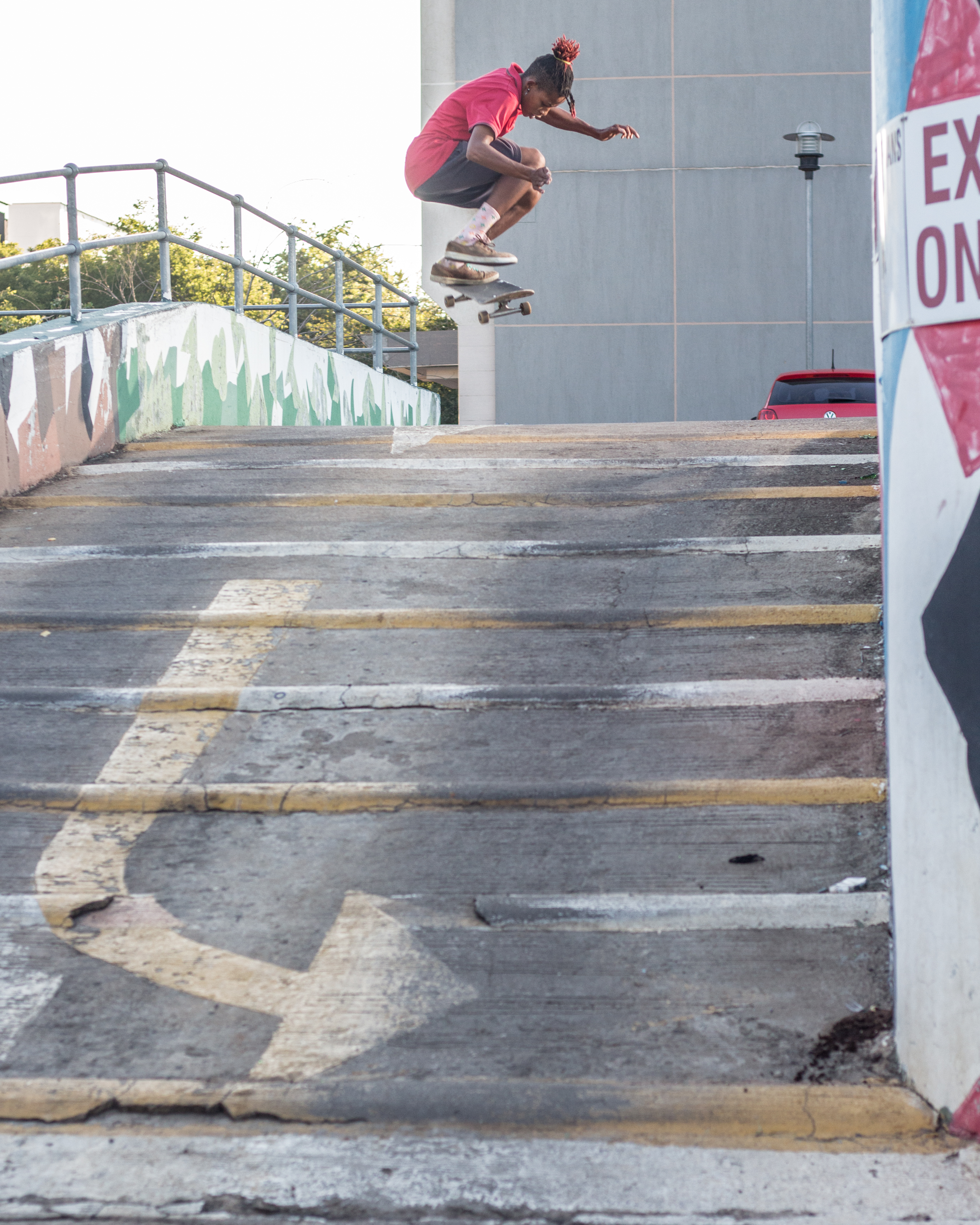 Jason Scott- Fakie inward heel into humps went down switch in Main Mall, Gaborone.